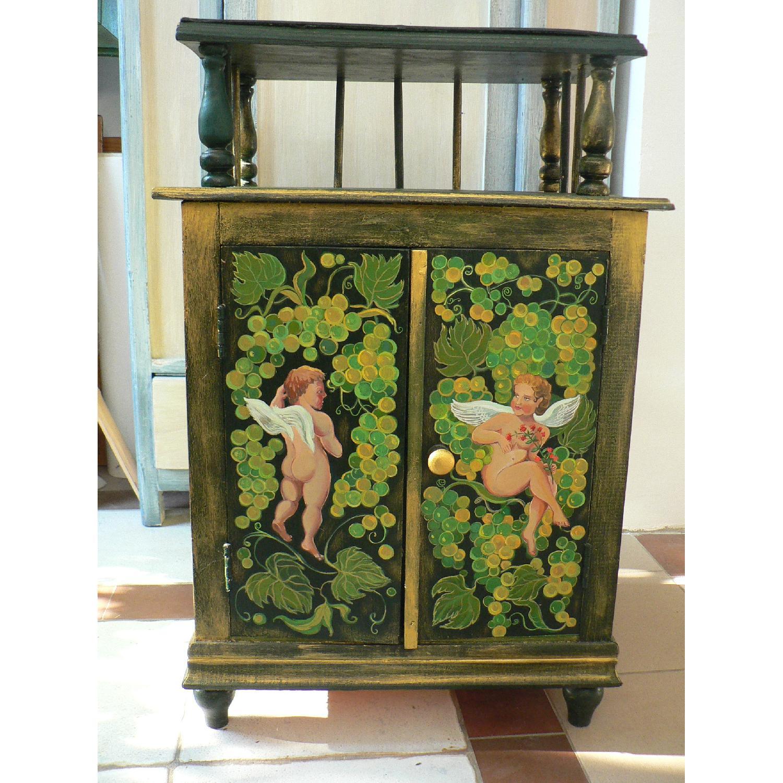 Vintage Oak Wood Frame Chest - image-1