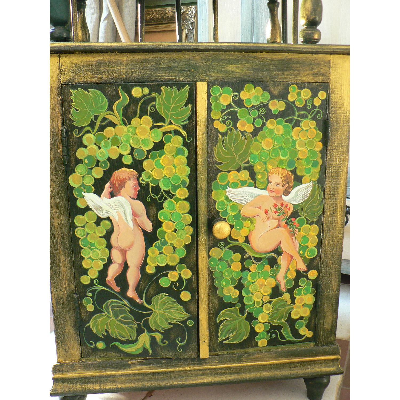 Vintage Oak Wood Frame Chest - image-6