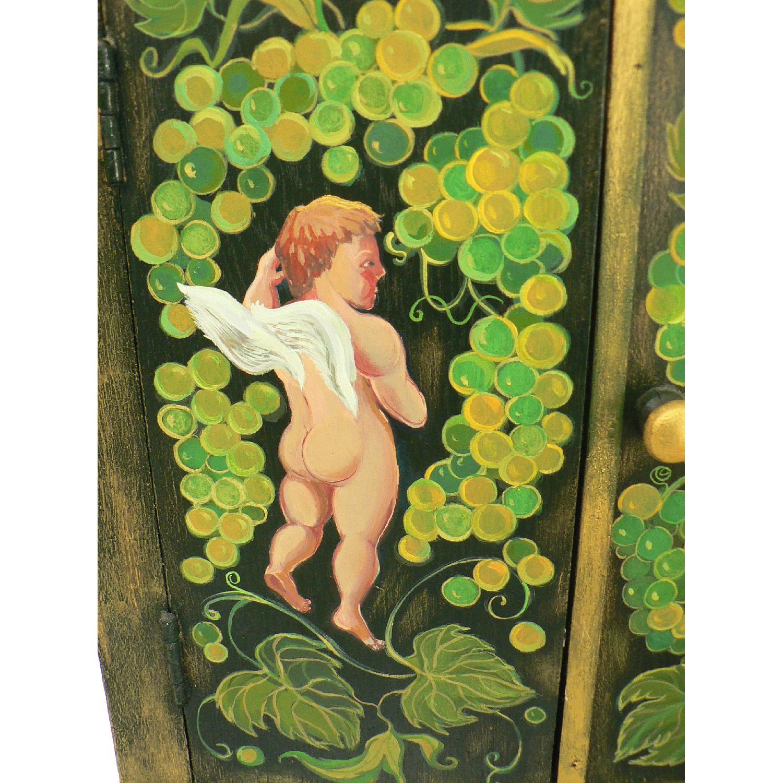 Vintage Oak Wood Frame Chest - image-7