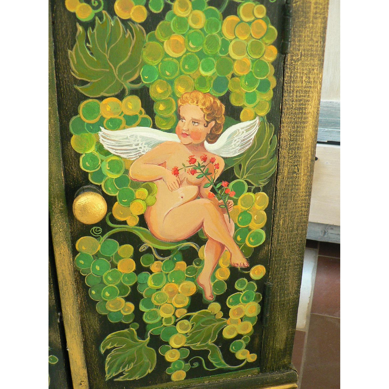 Vintage Oak Wood Frame Chest - image-8
