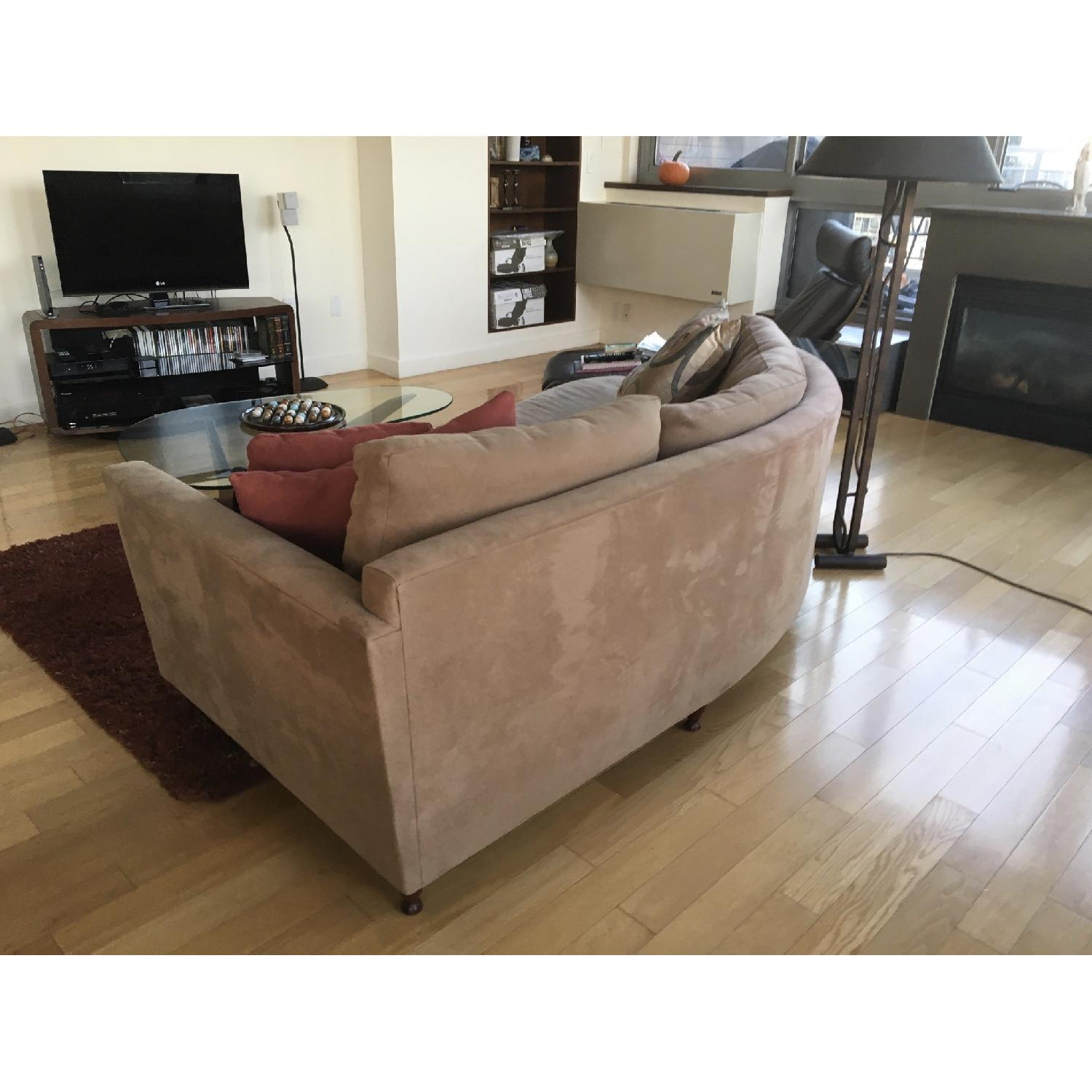 Grey Suede Couch - image-2