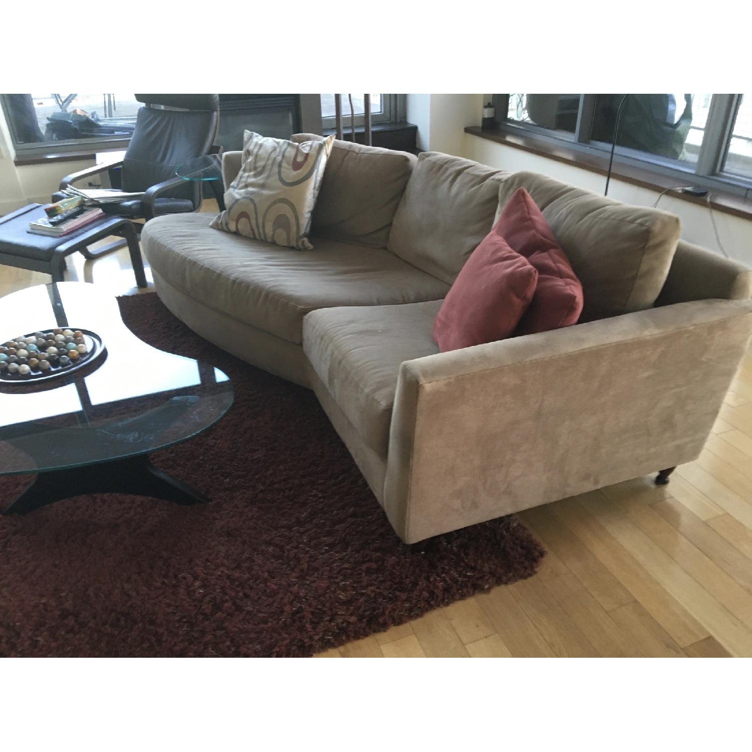 Grey Suede Couch - image-3