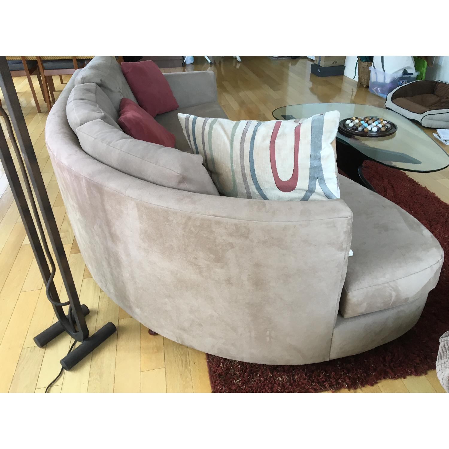 Grey Suede Couch - image-4