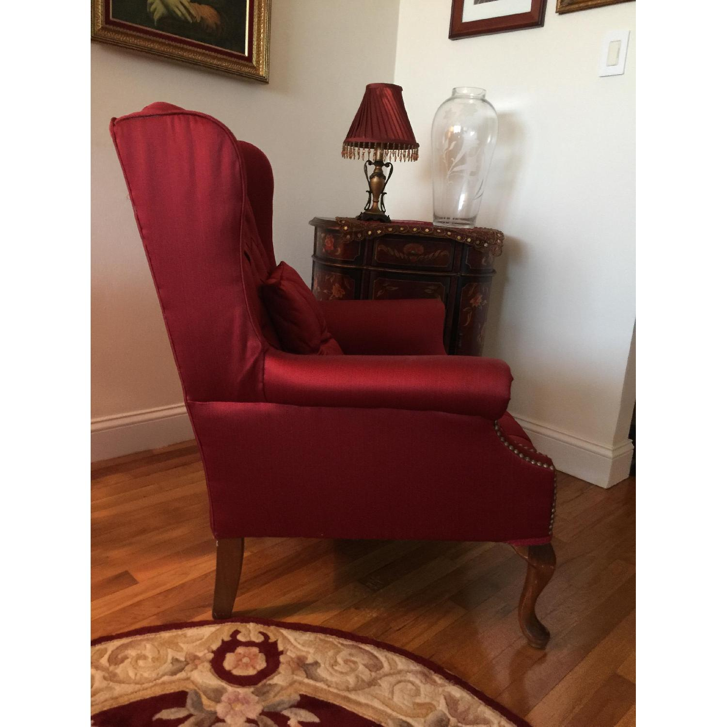 Red Wingtip Chair - image-2