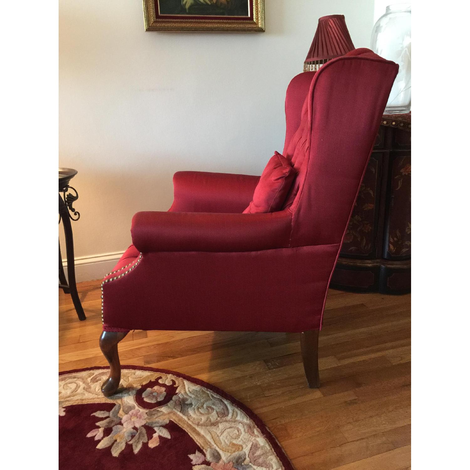Red Wingtip Chair - image-3