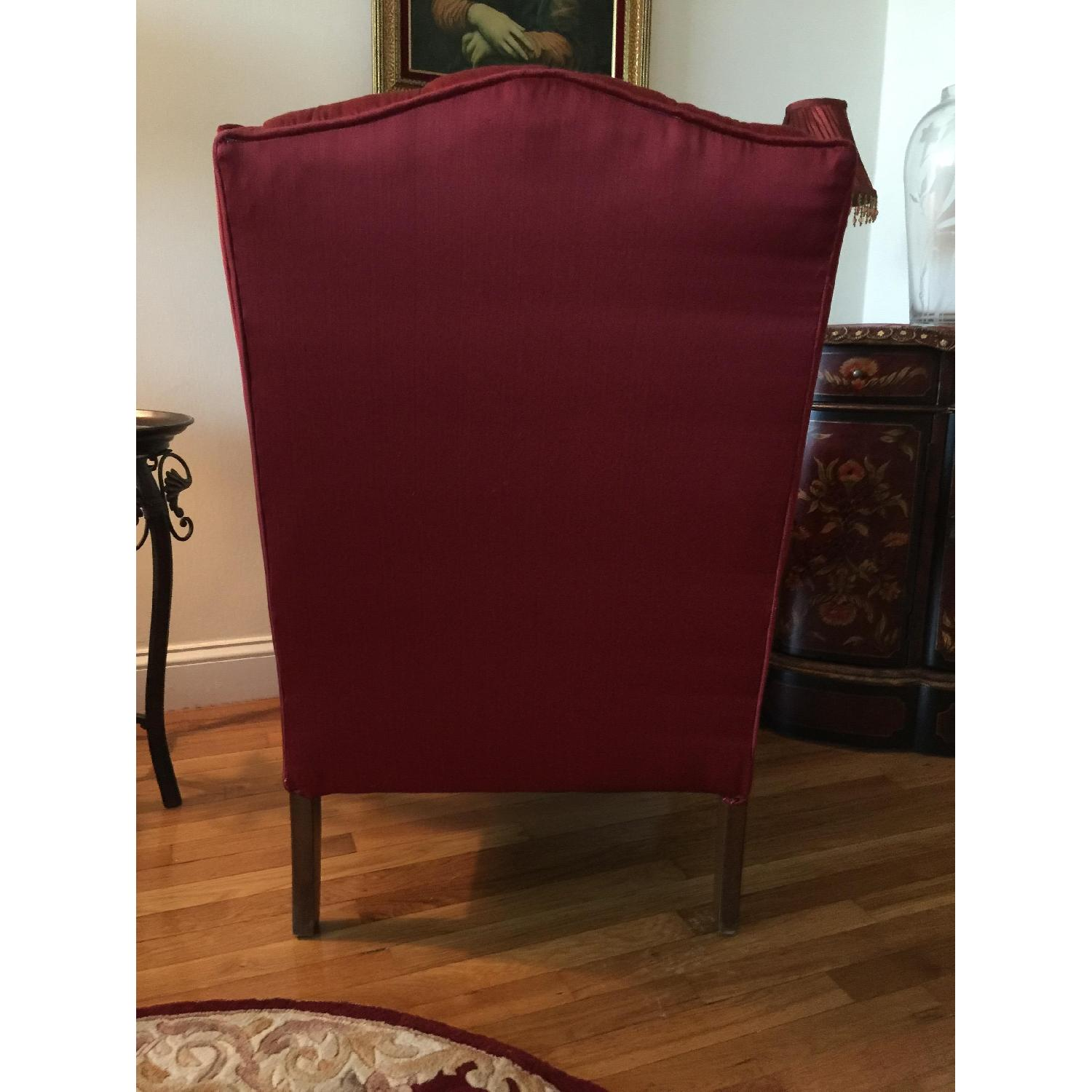 Red Wingtip Chair - image-4