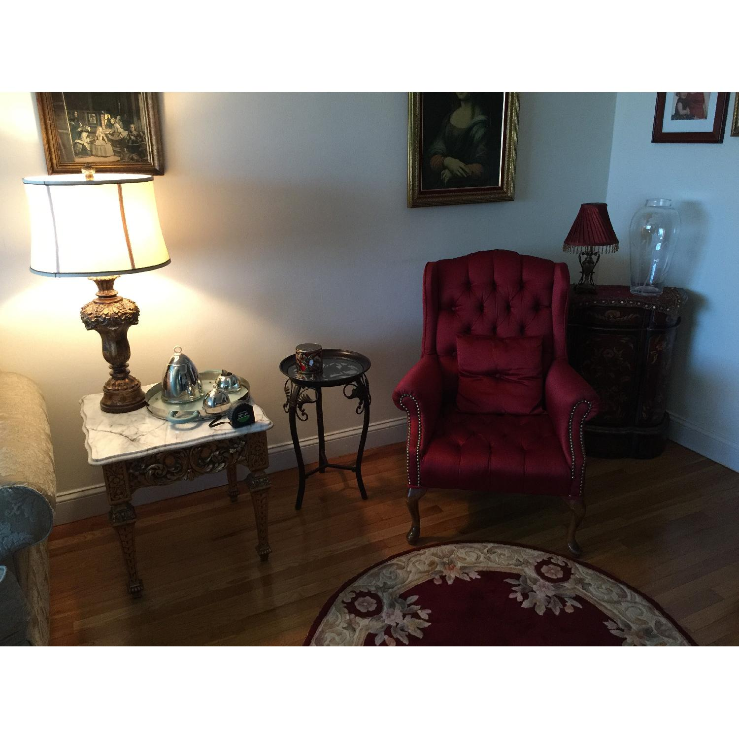 Red Wingtip Chair - image-5