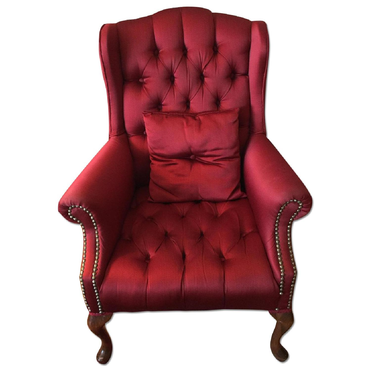 Red Wingtip Chair - image-0