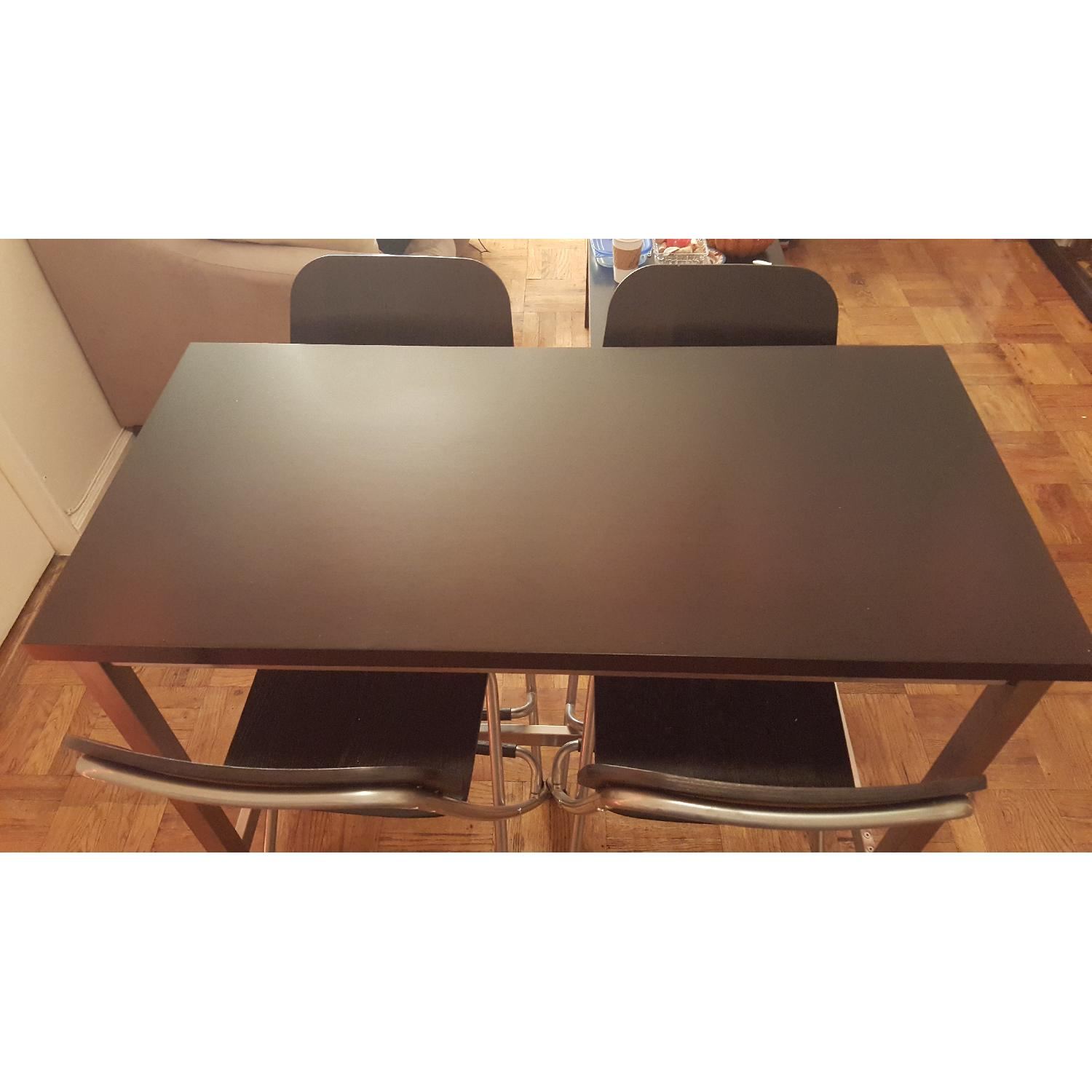 Ikea High Dining Table w/ 4 Chairs - image-1