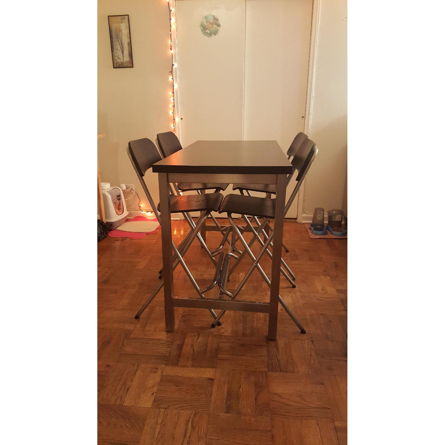 Ikea High Dining Table w/ 4 Chairs - image-2