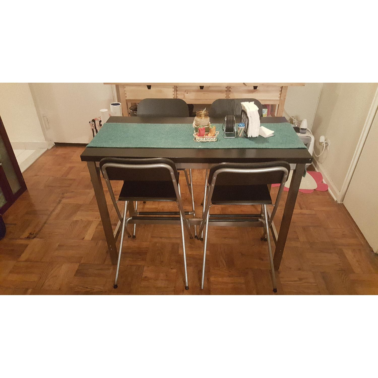 Ikea High Dining Table w/ 4 Chairs - image-3