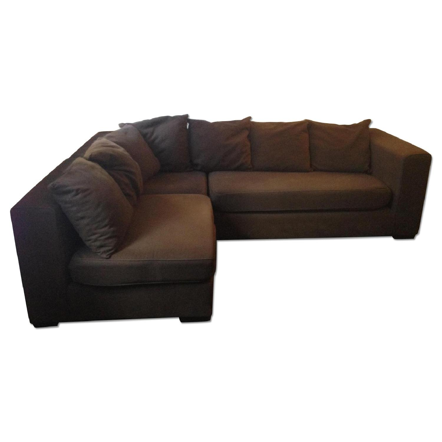 West Elm Walton 3 Piece Sectional Sofa in Brown - image-0