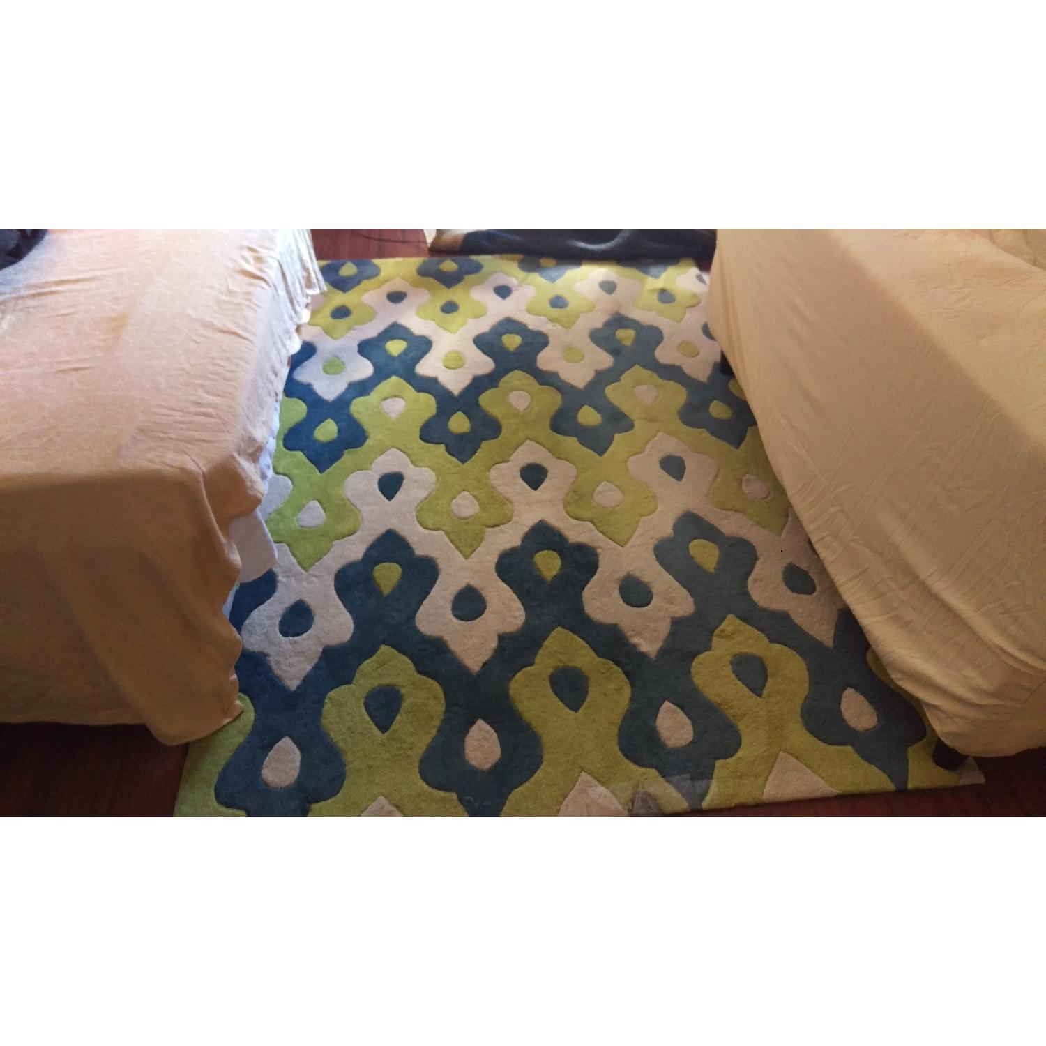 Rugs USA Area Rug in Blue Green & White - image-1