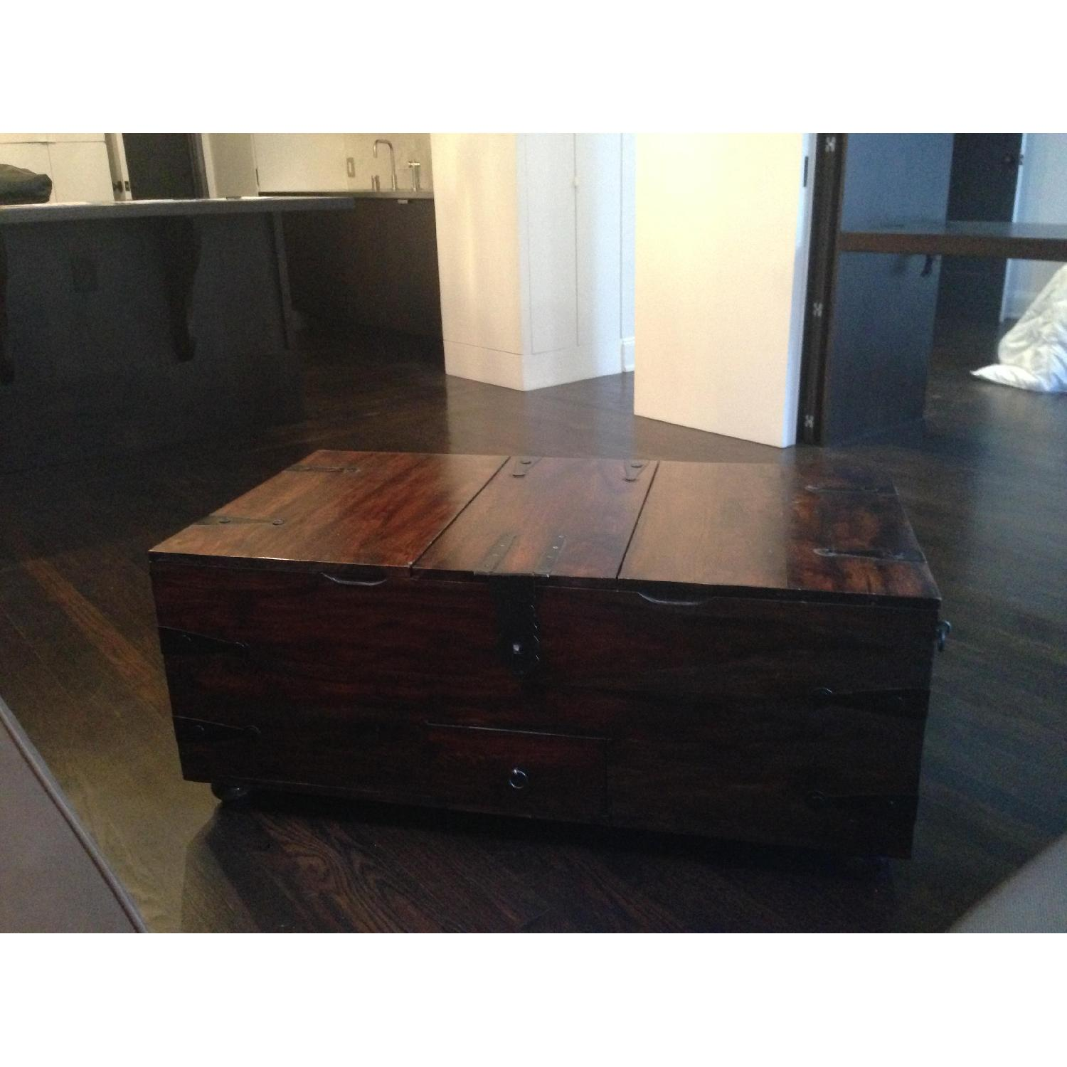 William Sheppee USA Solid Wood Trunk Coffee Table - image-1