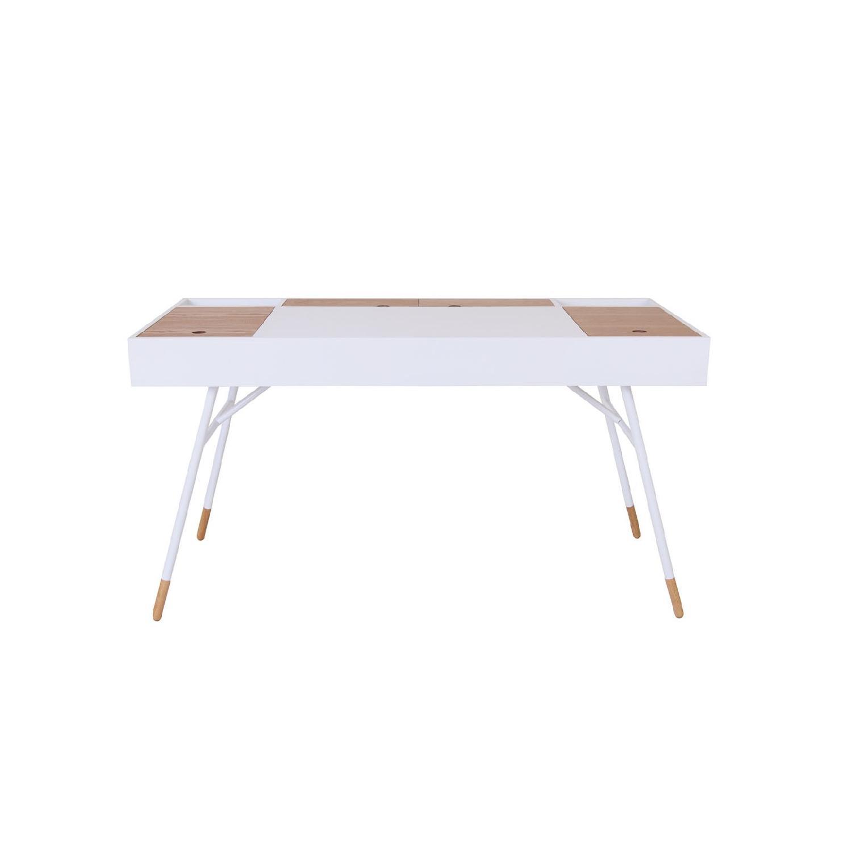 URBN Kasper Writing Desk in White - image-0