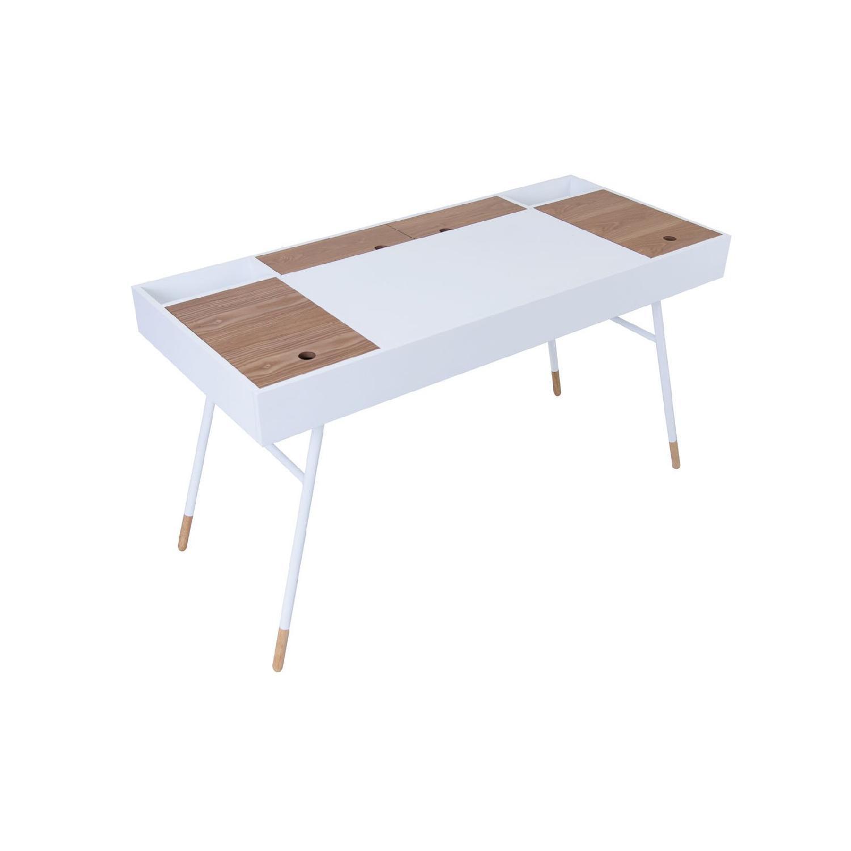 URBN Kasper Writing Desk in White - image-1
