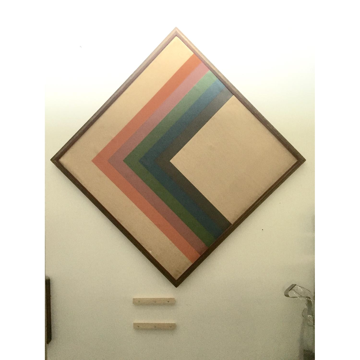 Large Format 70's Geometric Abstract Painting - image-1