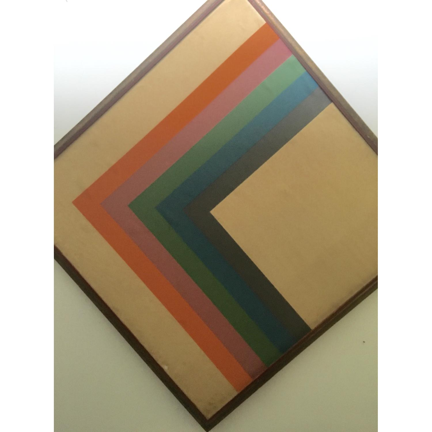 Large Format 70's Geometric Abstract Painting - image-2