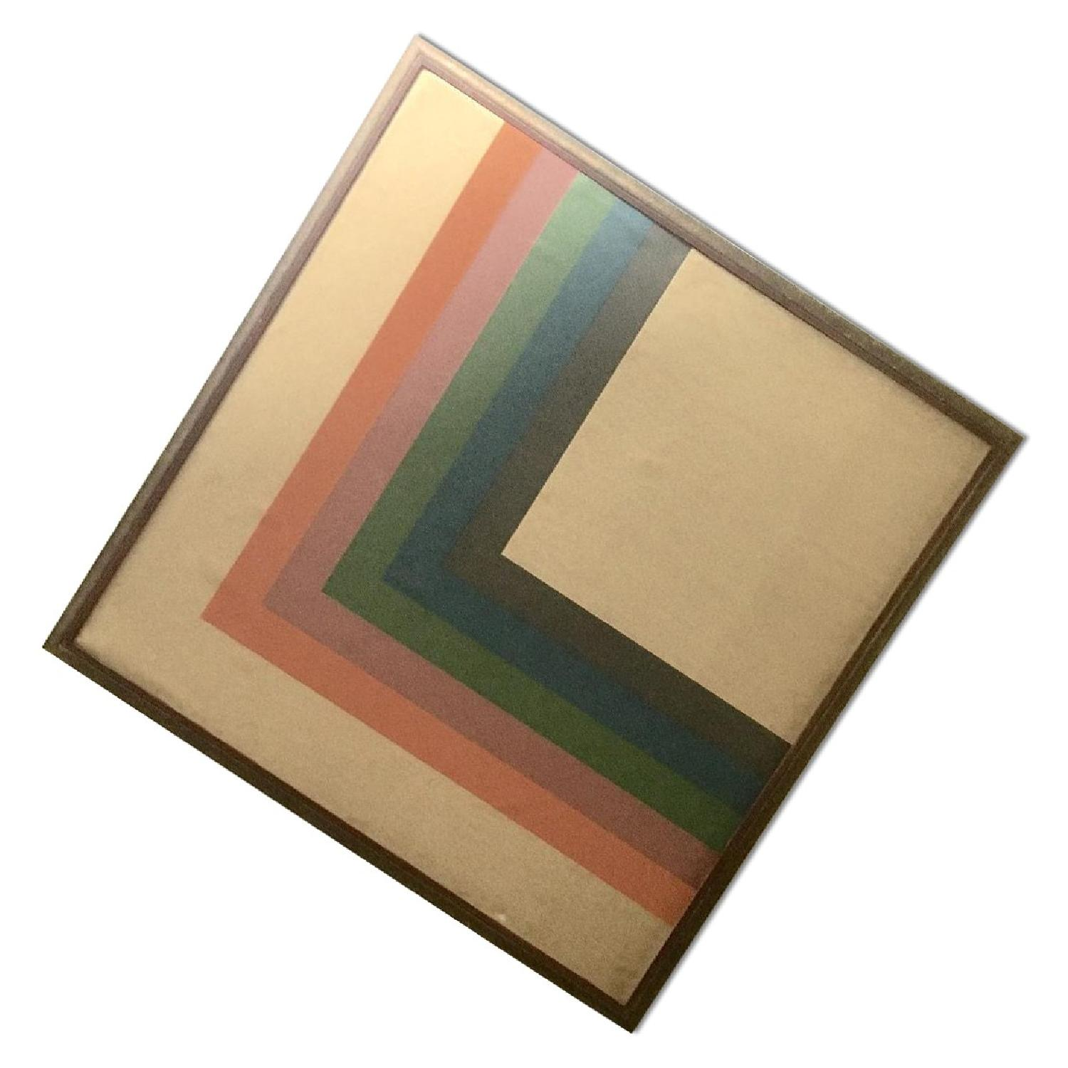 Large Format 70's Geometric Abstract Painting - image-0