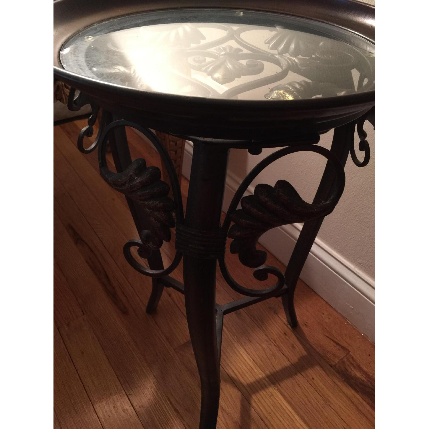 Small Metal & Glass Side Table - image-2