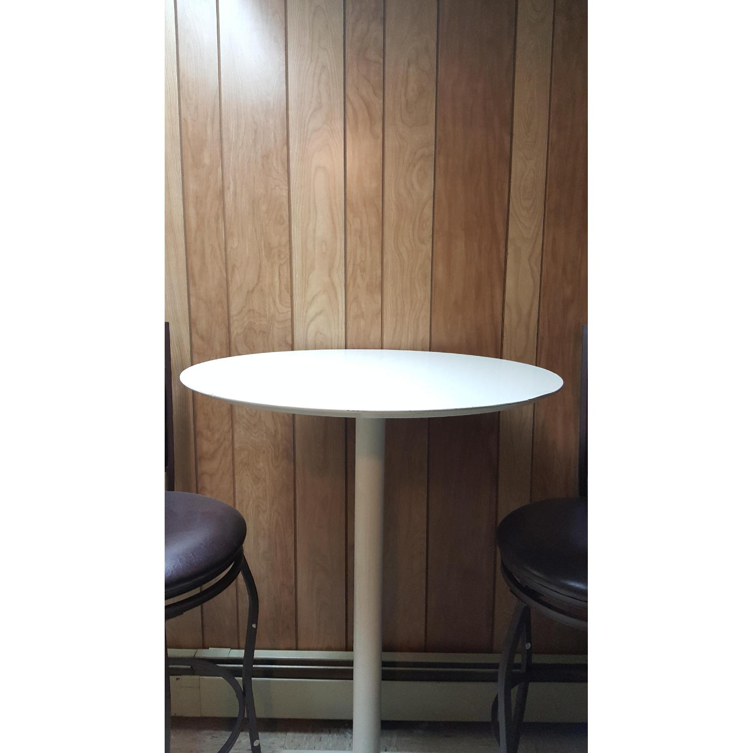 Tall White Bar Table - image-1
