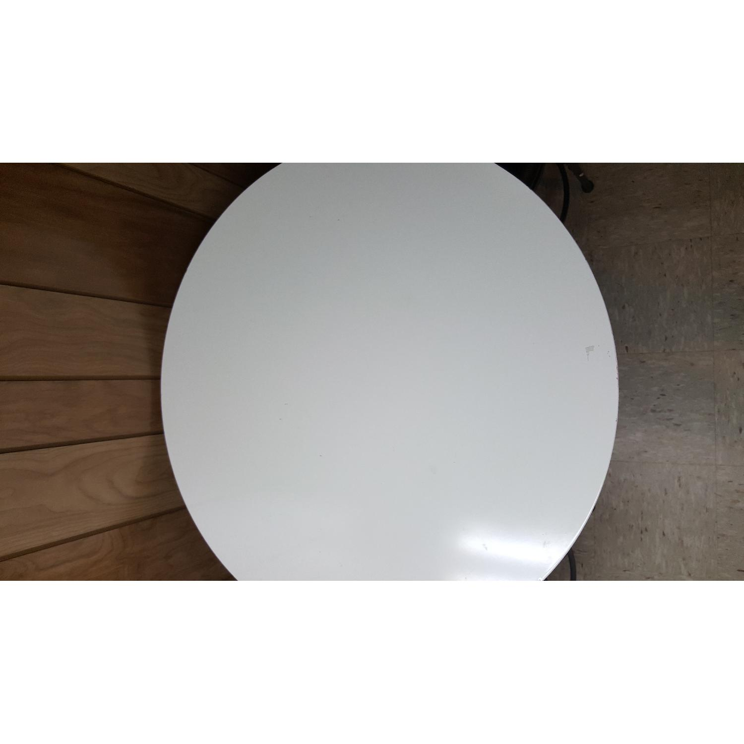 Tall White Bar Table - image-4