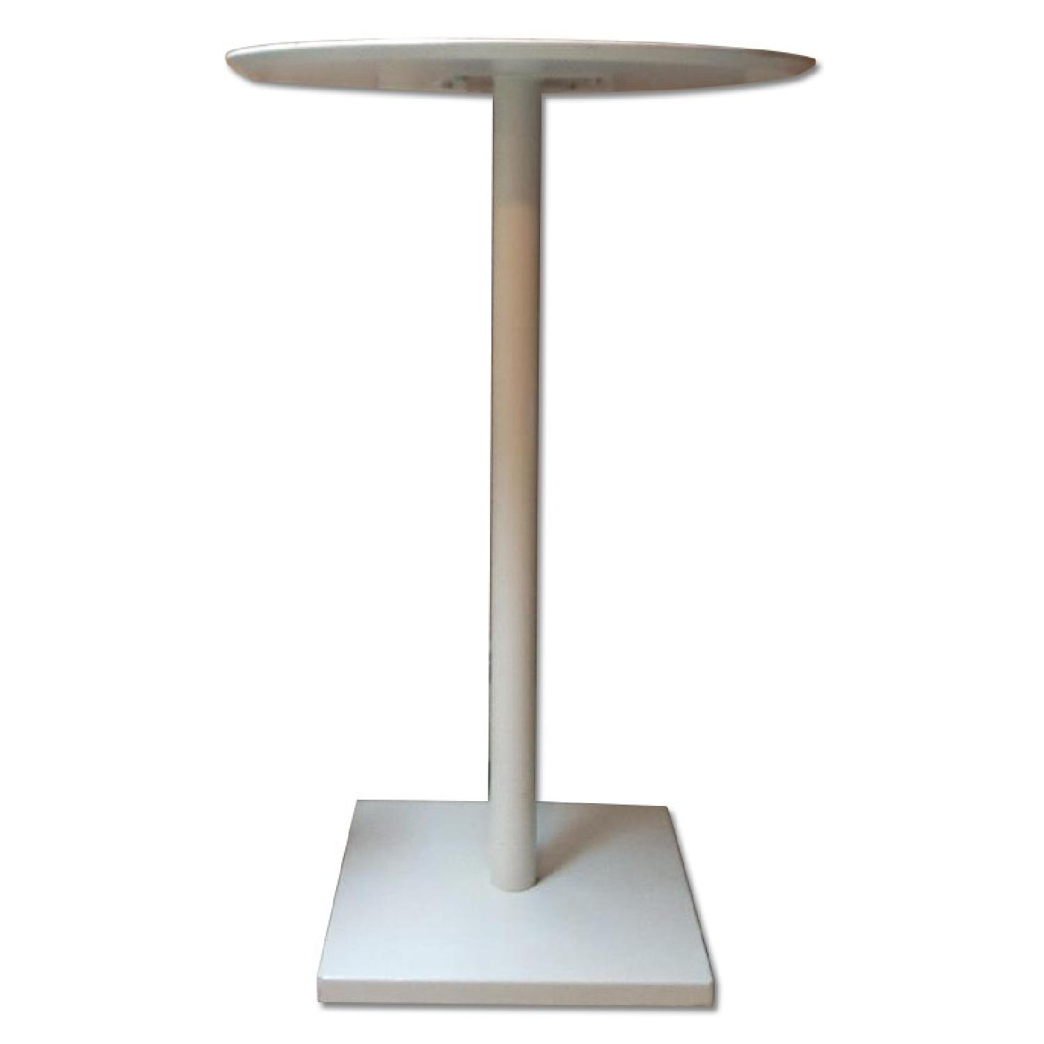 Tall White Bar Table - image-0