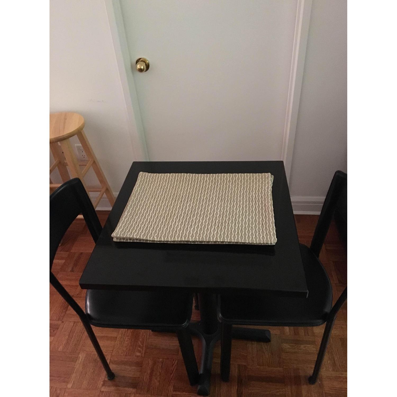 Black Granite Table w/ 2 Chairs - image-2