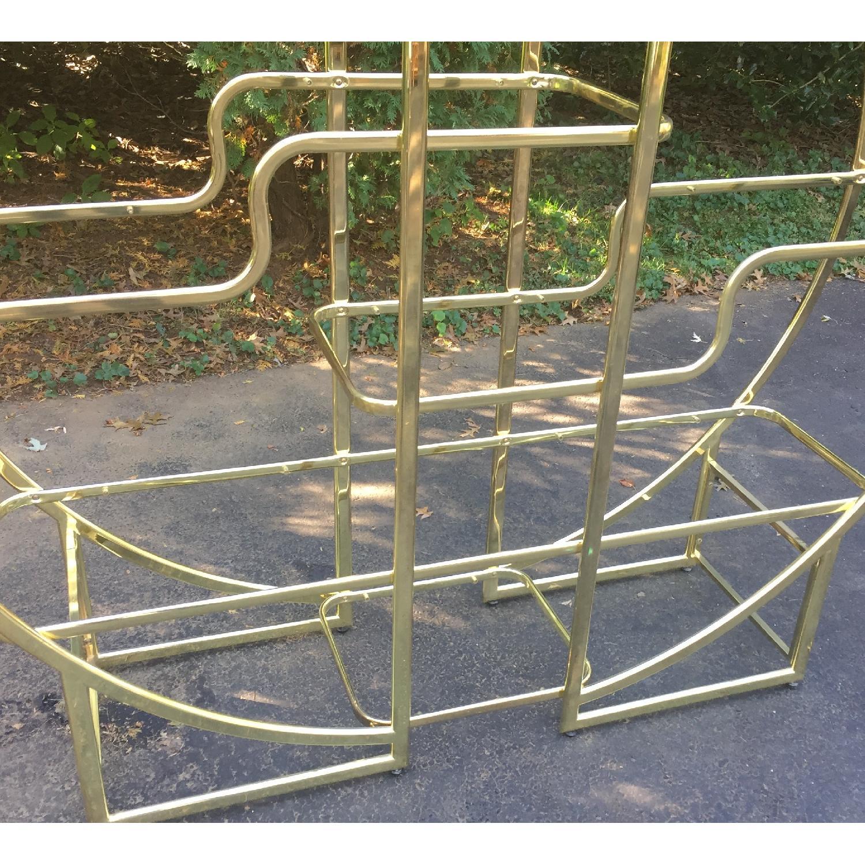 Mid Century Modern Circular Brass Etagere/Display Shelf - image-3