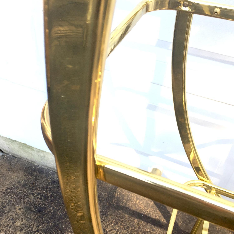 Mid Century Modern Circular Brass Etagere/Display Shelf - image-4