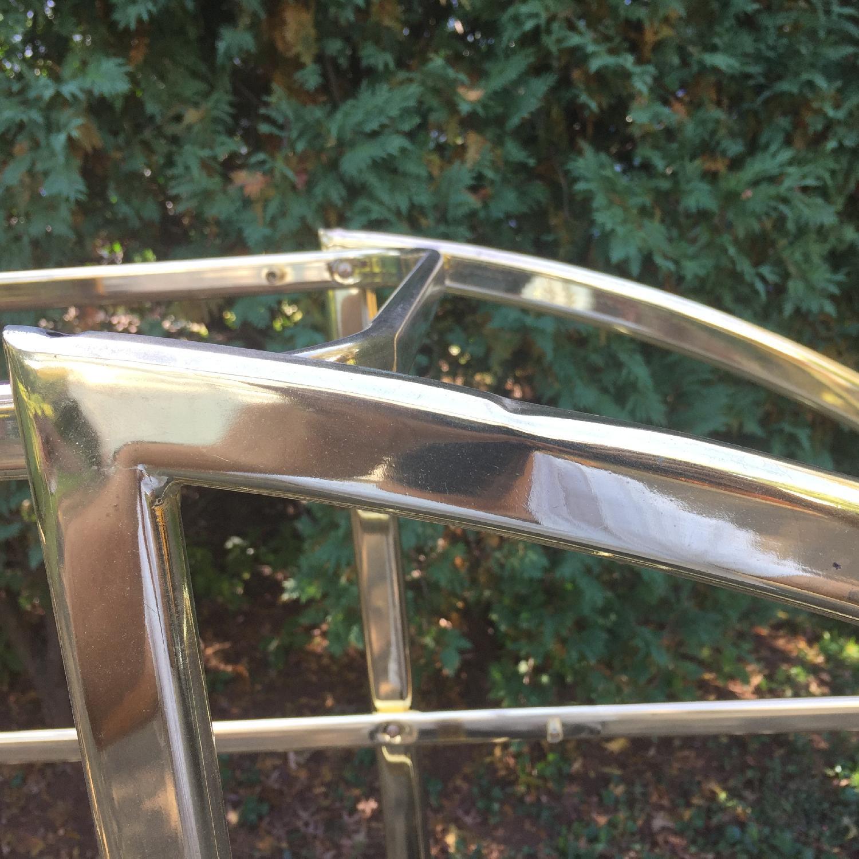Mid Century Modern Circular Brass Etagere/Display Shelf - image-5