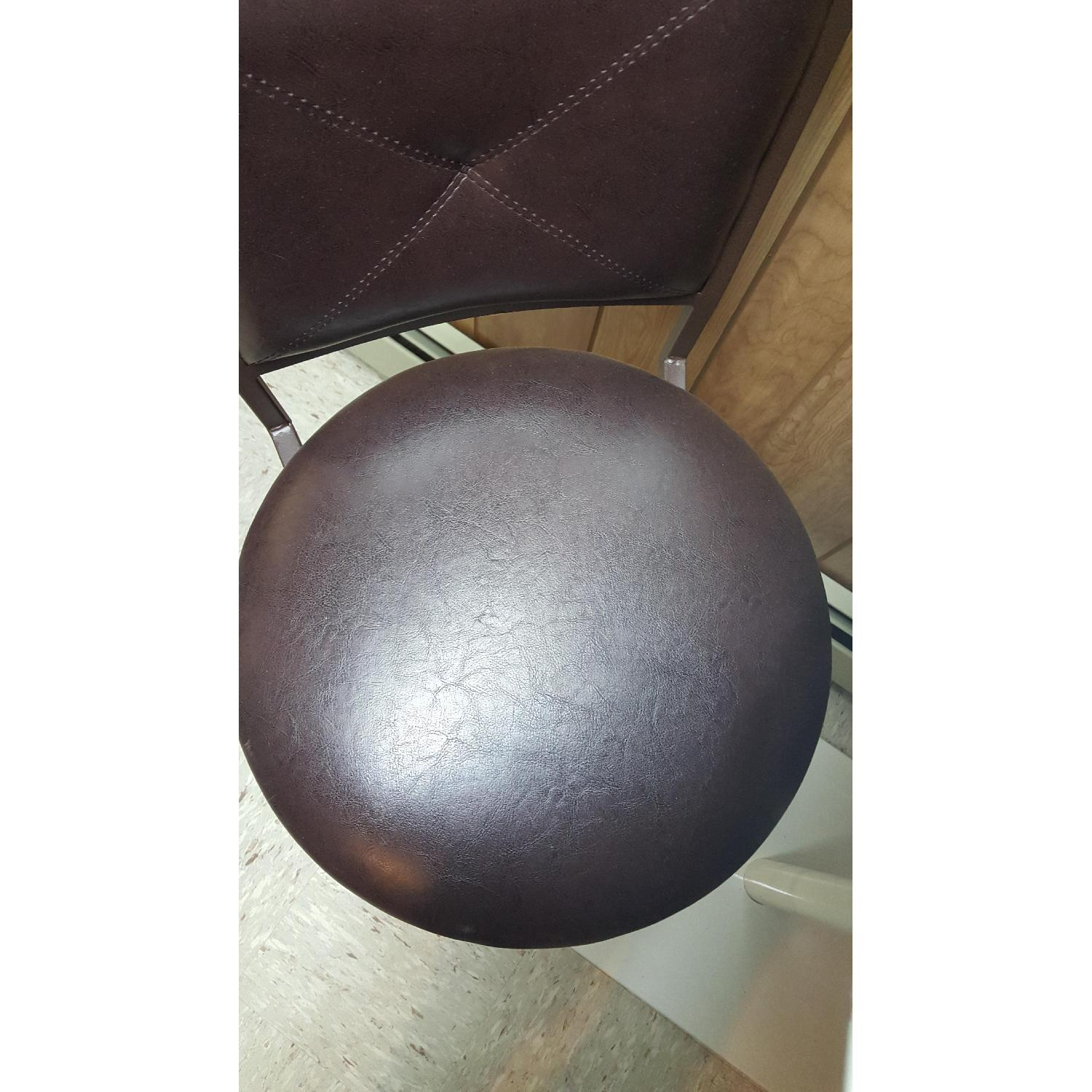 Faux Leather Brown Dining Bar Stools-2
