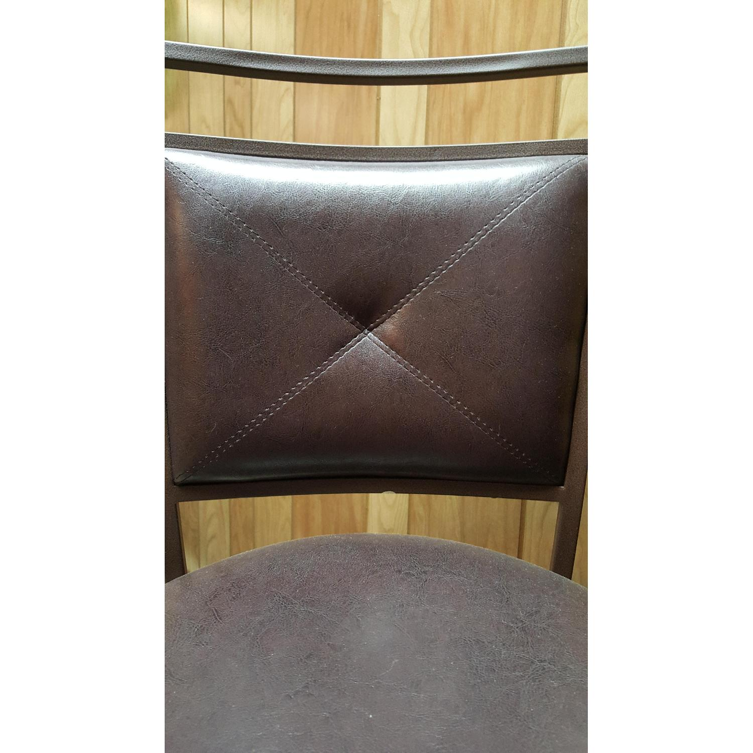 Faux Leather Brown Dining Bar Stools-3
