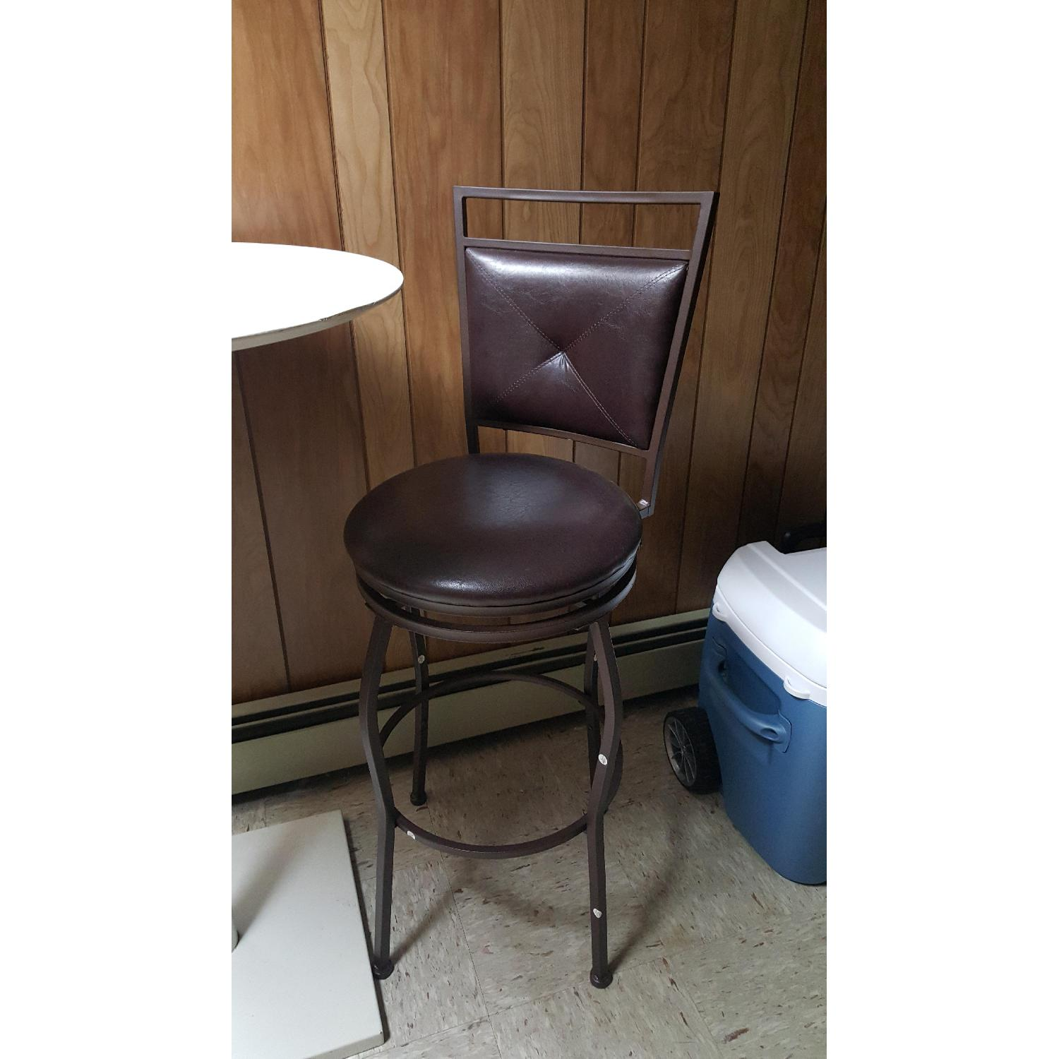 Faux Leather Brown Dining Bar Stools-4