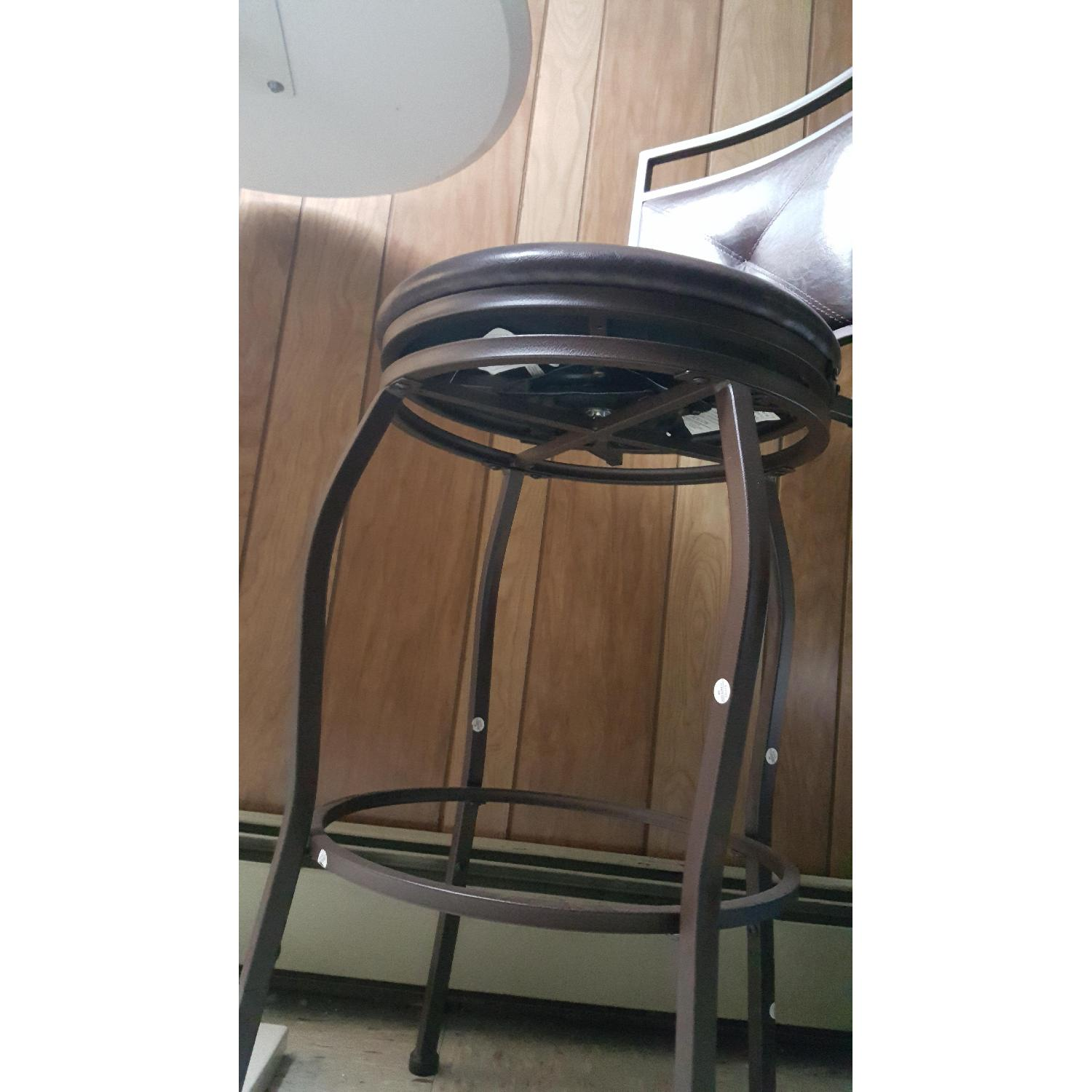 Faux Leather Brown Dining Bar Stools-6