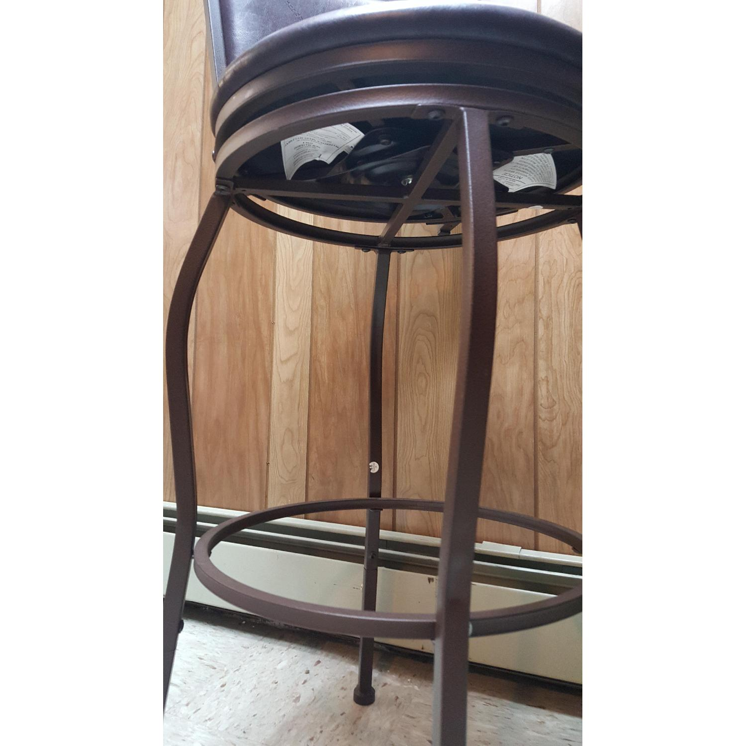 Faux Leather Brown Dining Bar Stools-8