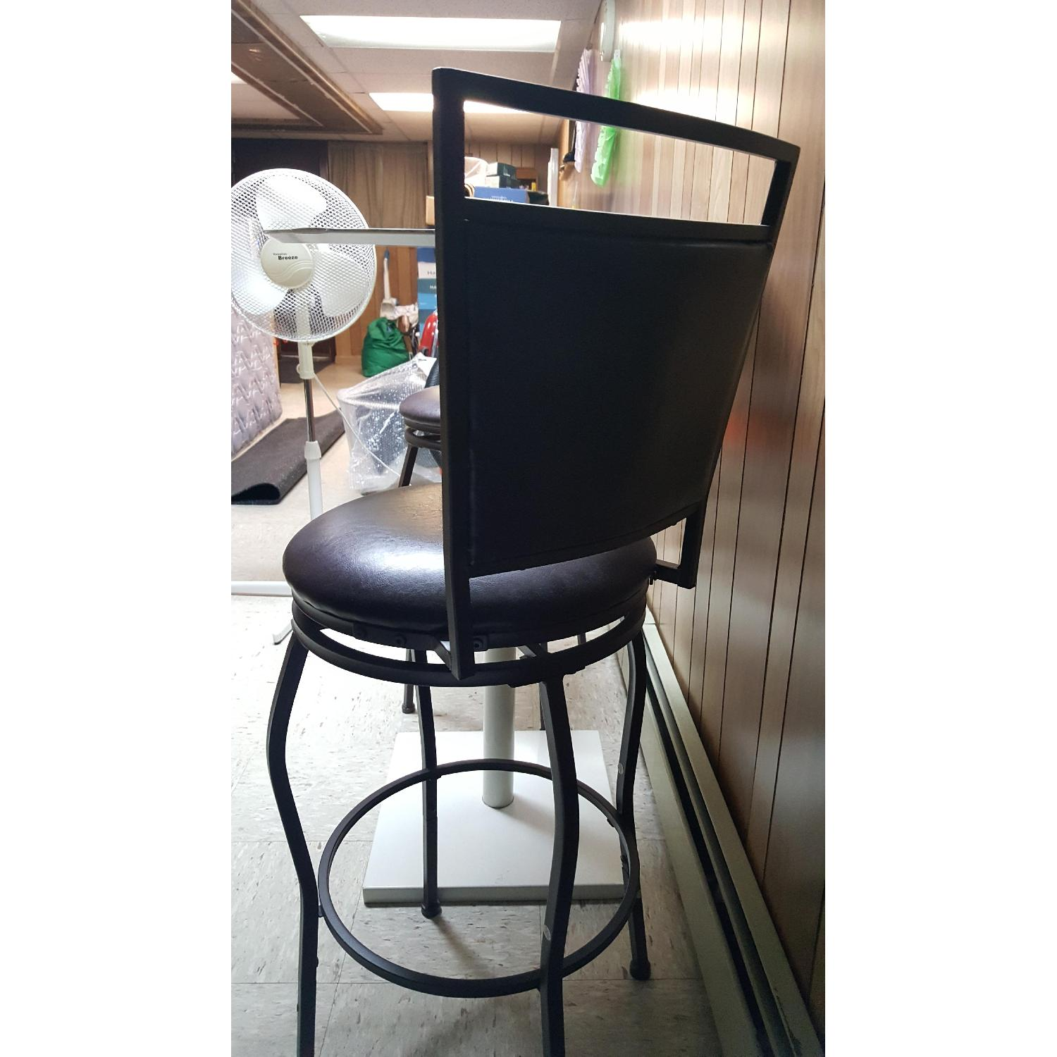 Faux Leather Brown Dining Bar Stools-9