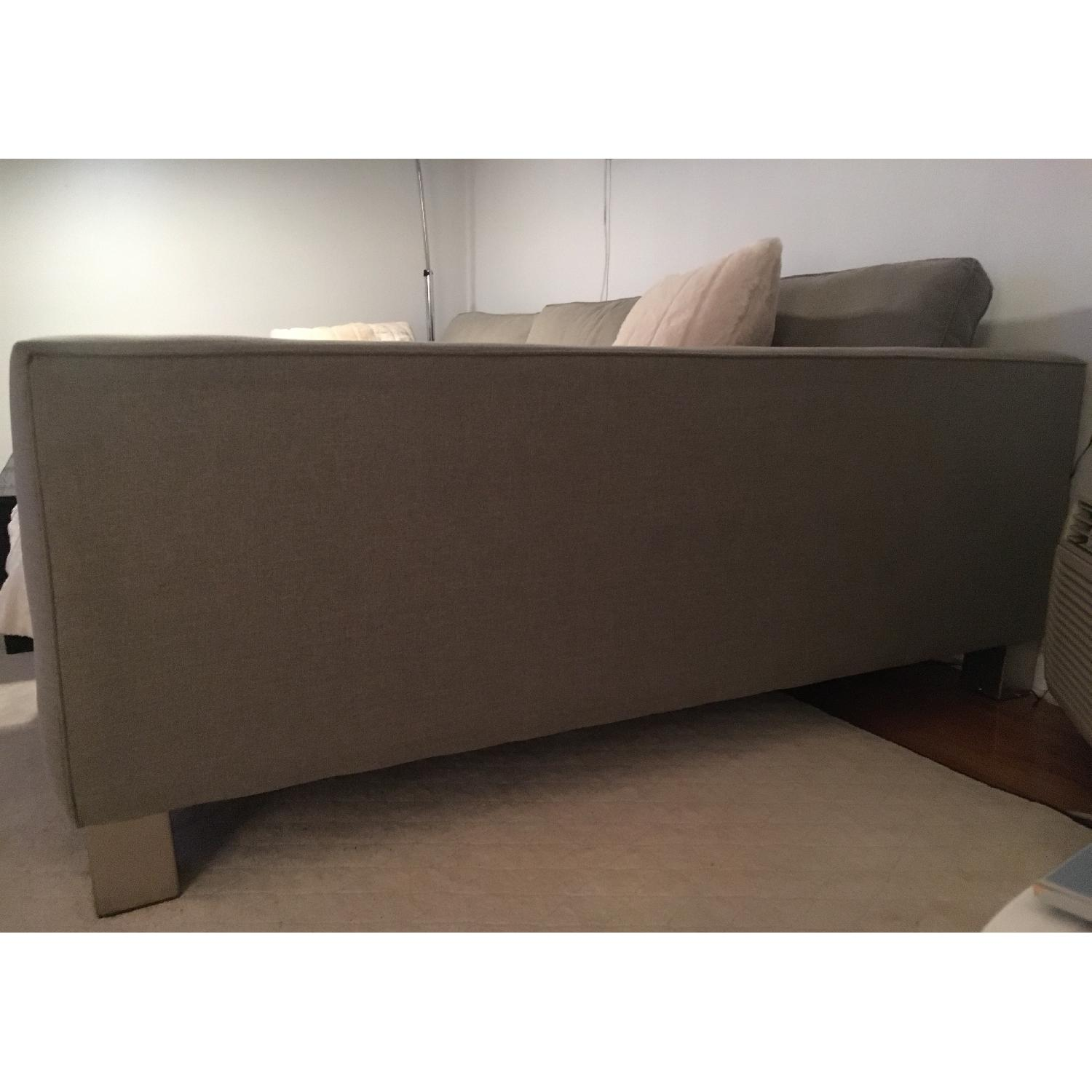 Bloomingdale's 2 Piece L-Shape Sectional w/ Chaise Lounge in Pewter/Gray - image-3
