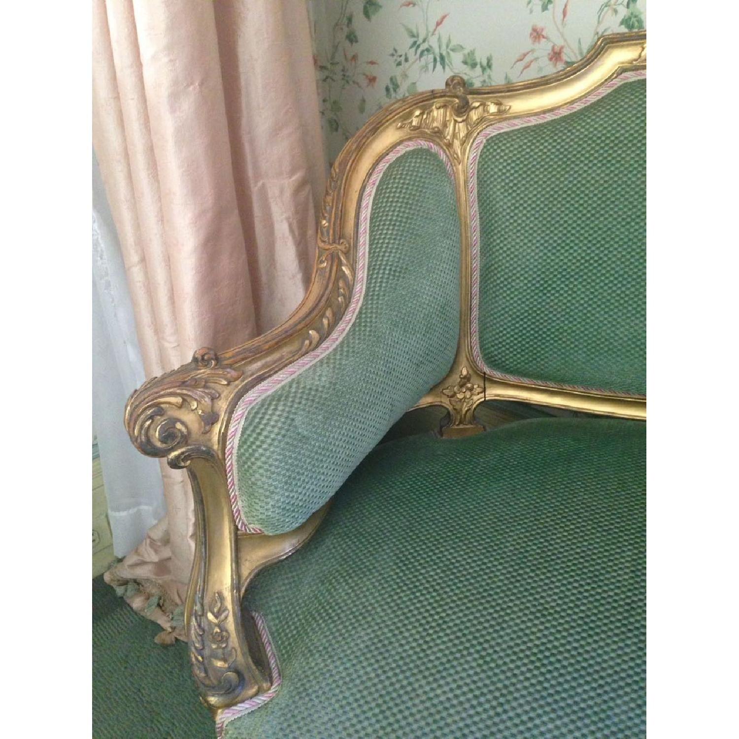 Hand Carved & Glided Settee - image-1
