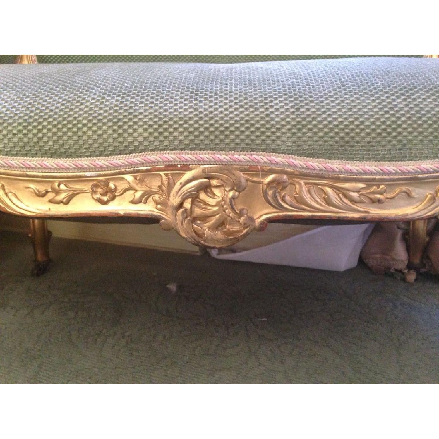 Hand Carved & Glided Settee - image-2