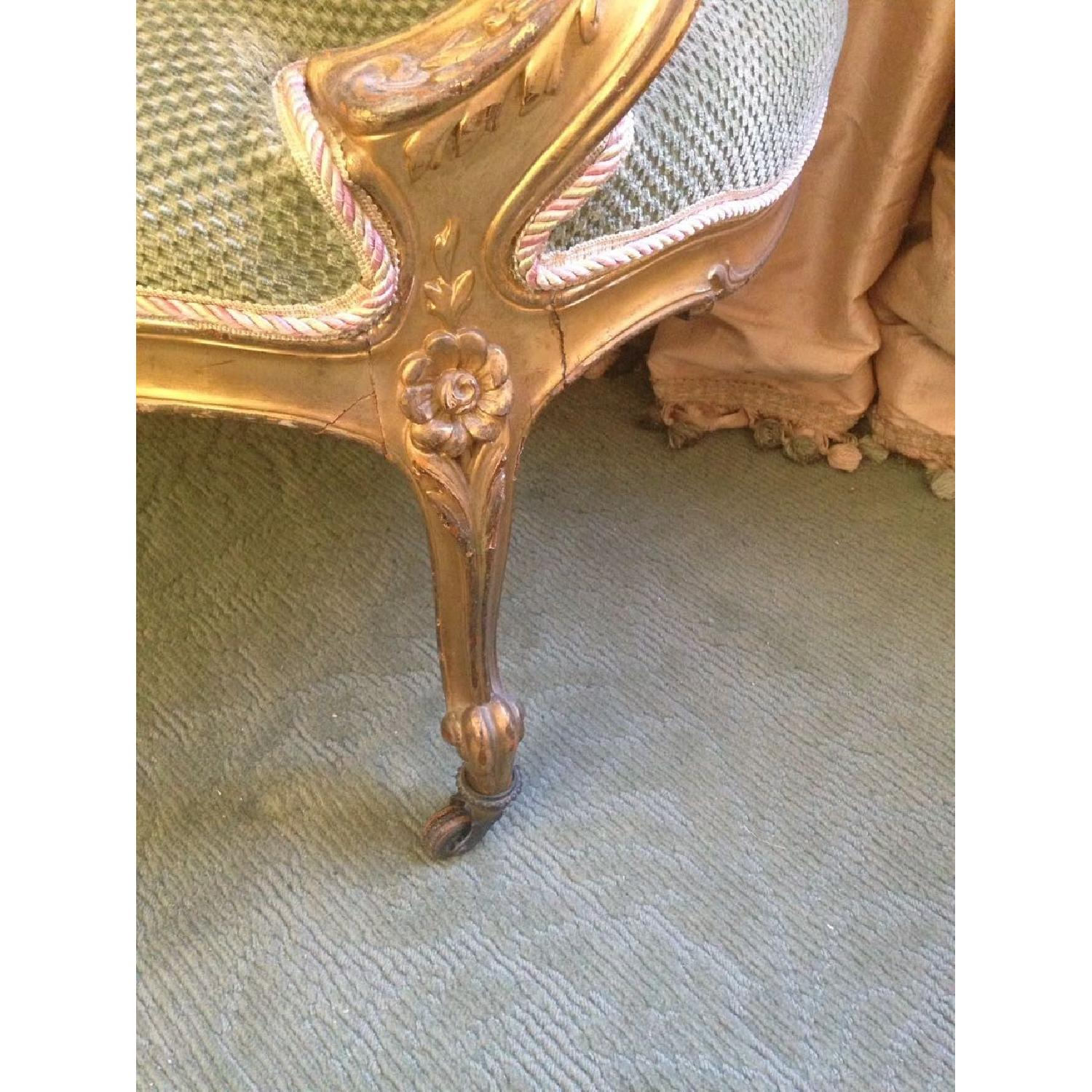 Hand Carved & Glided Settee - image-5
