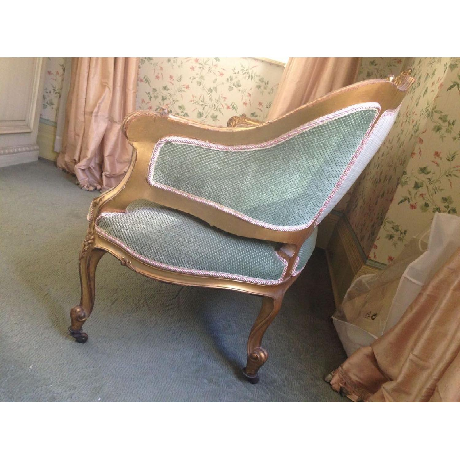 Hand Carved & Glided Settee - image-6