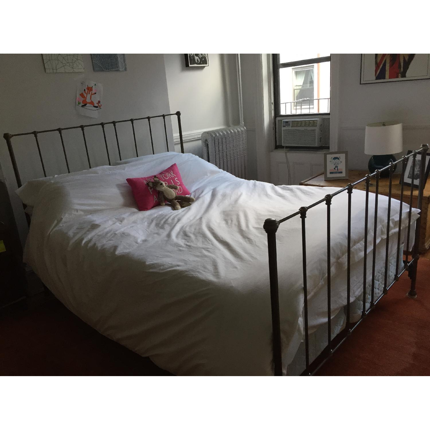 Queen Size Metal Bed Frame - image-1