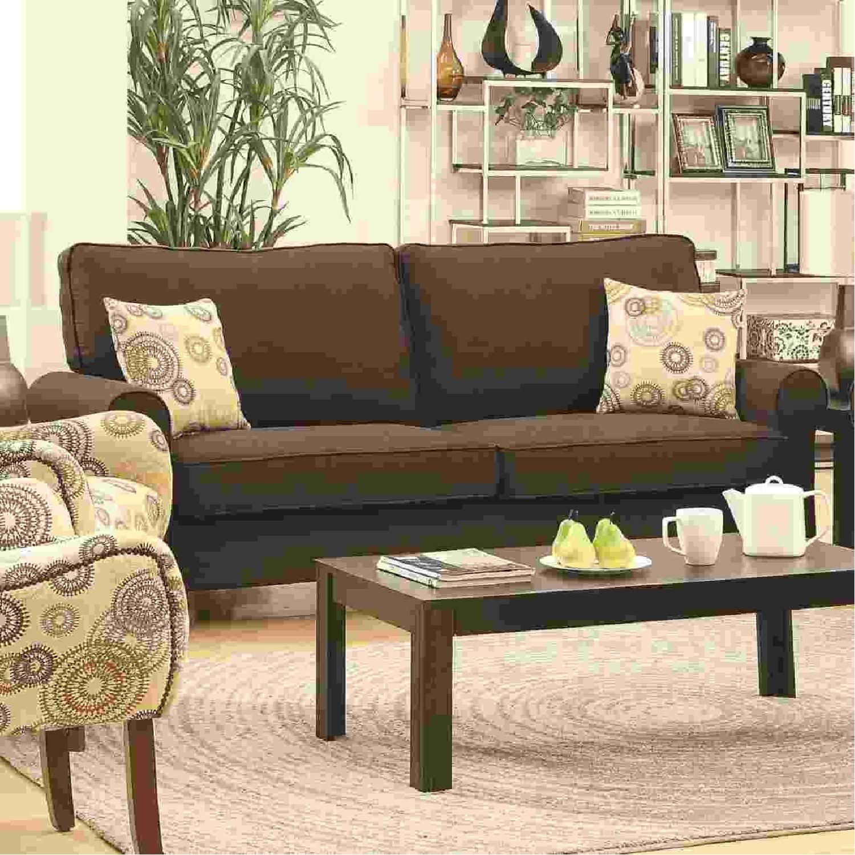 Brown Fabric Sofa - image-1