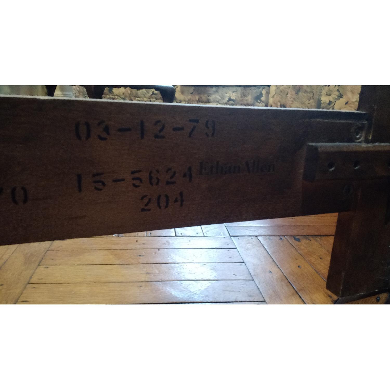 Ethan Allen Maple Wood Headboard w/ 3 Cane Panels - image-2