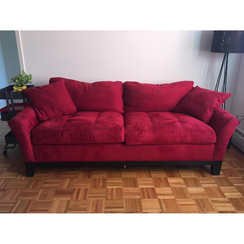 Raymour & Flanigan Rory Microfiber Queen Sleeper Sofa - image-1