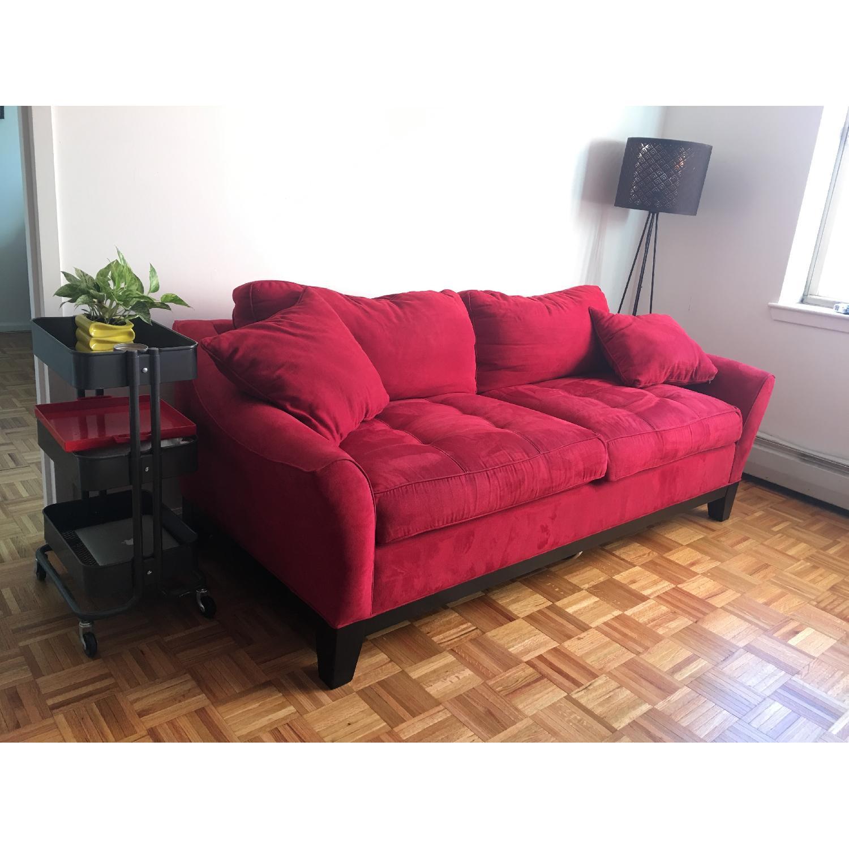 Raymour & Flanigan Rory Microfiber Queen Sleeper Sofa - image-2