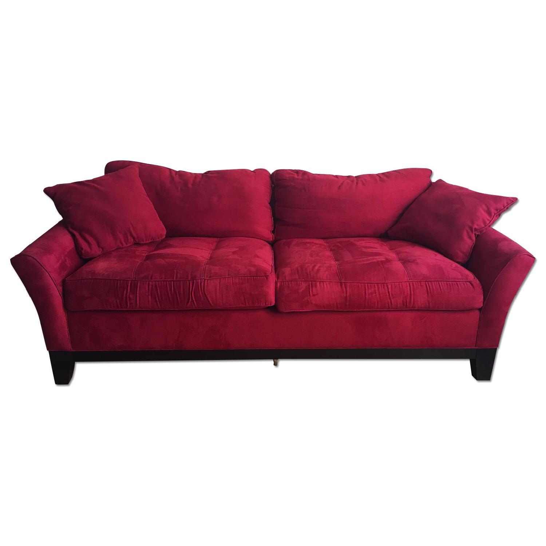 Raymour & Flanigan Rory Microfiber Queen Sleeper Sofa - image-0
