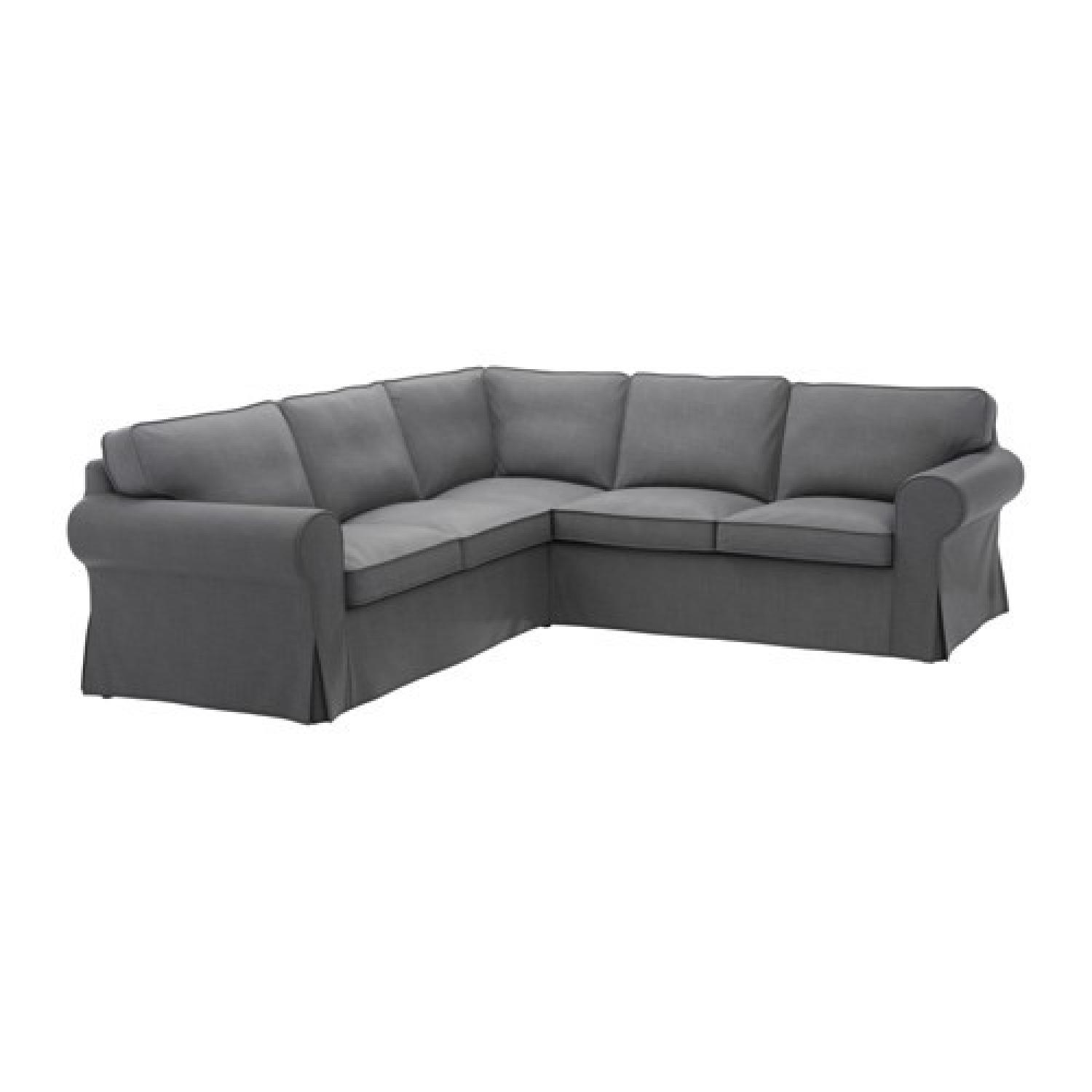 Ikea Dark Grey Sectional Sofa - image-1