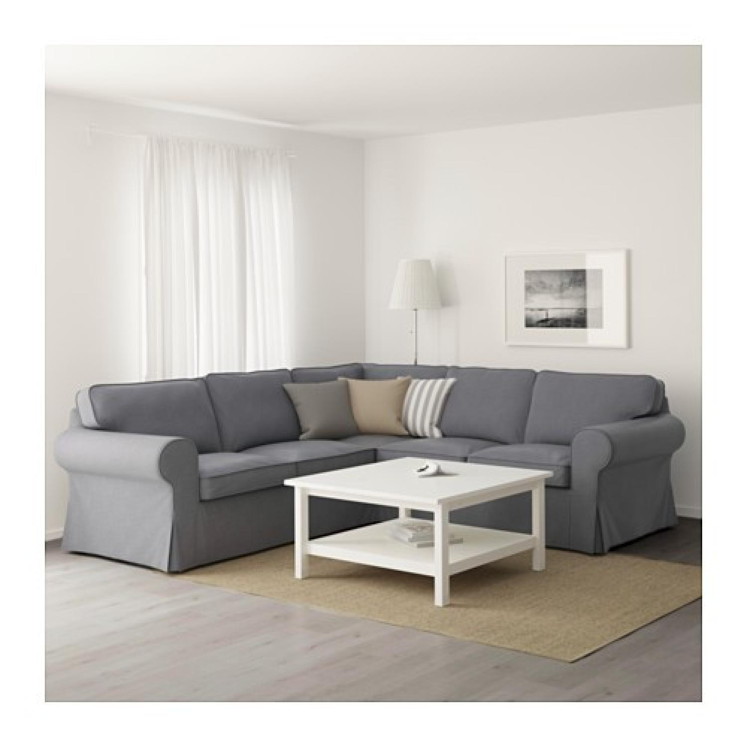 Ikea Dark Grey Sectional Sofa - image-3